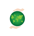 Green Earth Globe vector image vector image