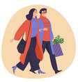 happy shopping for new year vector image vector image