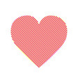 heart modern with editable line vector image vector image