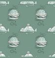 huge hamburger and fat cat seamless pattern vector image vector image