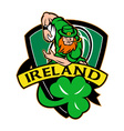 ireland rugby shield vector image vector image
