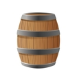 Isolated barrel of wood design vector image