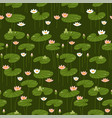 isometric flat water lily seamless pattern pink vector image vector image