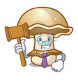 judge portobello mushroom mascot cartoon vector image vector image