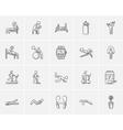 Lifestyle sketch icon set vector image vector image