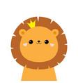 lion king face head icon cute kawaii animal