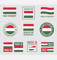 made in hungary labels set product emblem of vector image vector image