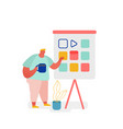 man character with colorful chart concept vector image