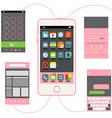 Modern smartphone with different interface vector image vector image