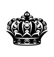 monochrome with imperial crown on vector image vector image