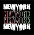 newyork district nyc print design typhography vector image vector image
