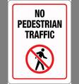 no pedestrian traffic sign vector image vector image