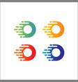 o letter abstract logo design template creative vector image