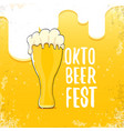 oktoberfest hand drawn label on beer vector image