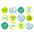 organic labels bio emblems for restaurants vector image