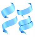 ribbons blue vector image