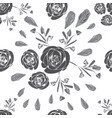 roses decor-flowers in bloom seamless repeat vector image vector image