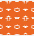 seamless cute pumpkin in halloween day on vector image vector image