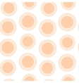Seamless pattern of peach circles vector image