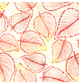 Seamless pattern with watercolor autumn leaves vector image vector image