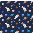 seamless space pattern with planets of Solar vector image