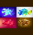 set abstract facet 3d shapes geometric vector image vector image