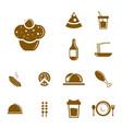 set food icon logo concept icon logo food vector image