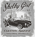 Shelby girl vector image vector image