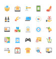 shopping and commerce icons set vector image vector image