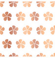 simple copper foil flowers seamless pattern vector image vector image
