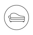 soft sofa icon vector image vector image