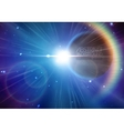 Solar eclipse background with stars and lens flare vector image vector image