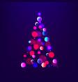stock abstract christmas tree vector image vector image