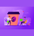 take away coffee concept vector image