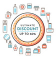 ultimate discount perfume shop poster sale banner vector image