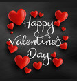 Valentines day background with 3d hearts