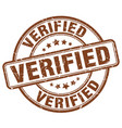 verified stamp vector image vector image