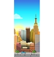 Vertical City Background vector image vector image