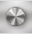 volume knob with metal texture vector image
