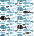 whales pattern vector image