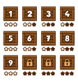 Wooden level selection 2 vector image vector image