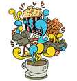 coffee cup series movie vector image