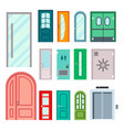 doors isolated entrance vector image
