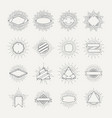 stamp and badges collection different shapes and vector image
