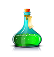 Bottle of green elixir vector image