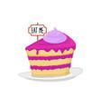 sweet cake dessert food alice in wonderland vector image