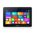 Black Tablet PC with metro interface