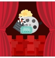 Abstract Cinema Flat Background with Reel Old vector image vector image