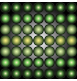 Abstract spheres green background