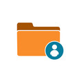 account avatar folder male man profile user icon vector image